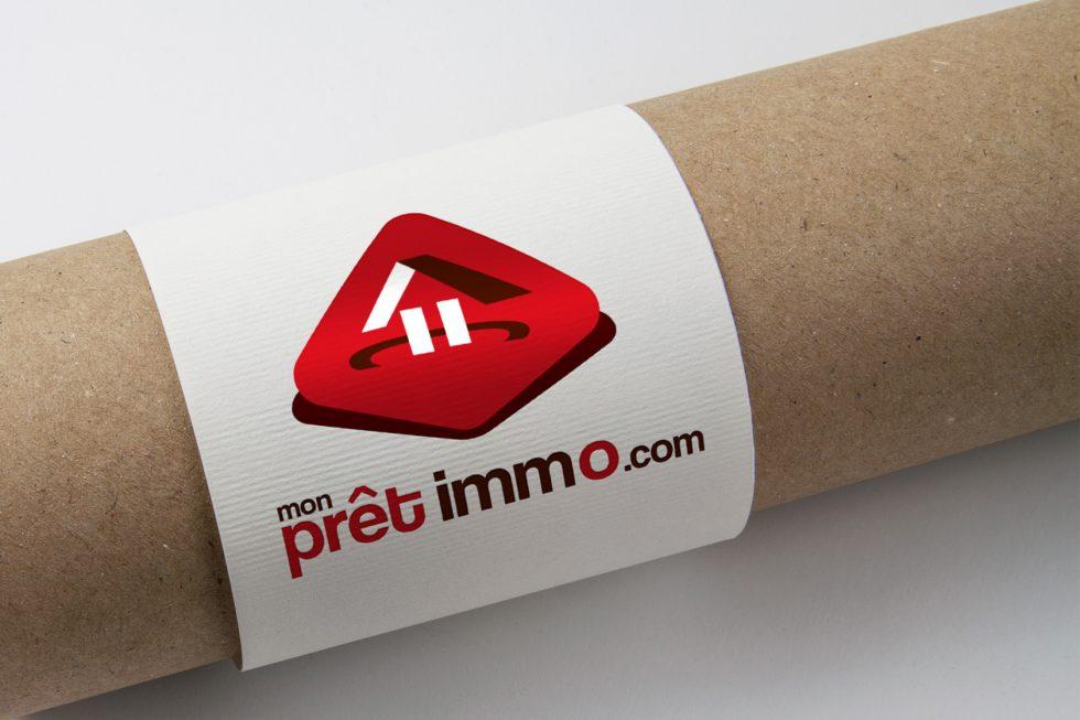 creation logo monpretimmo.com