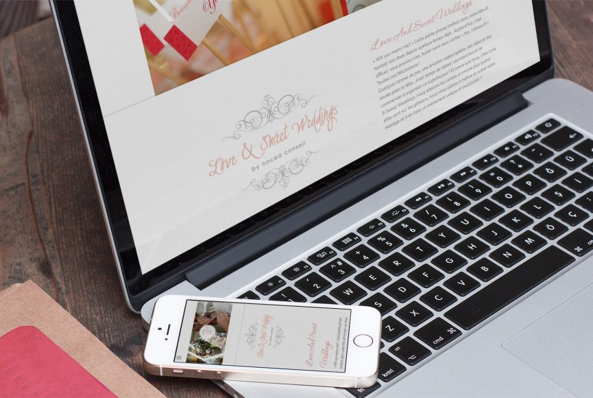 création site loveandsweetwedding