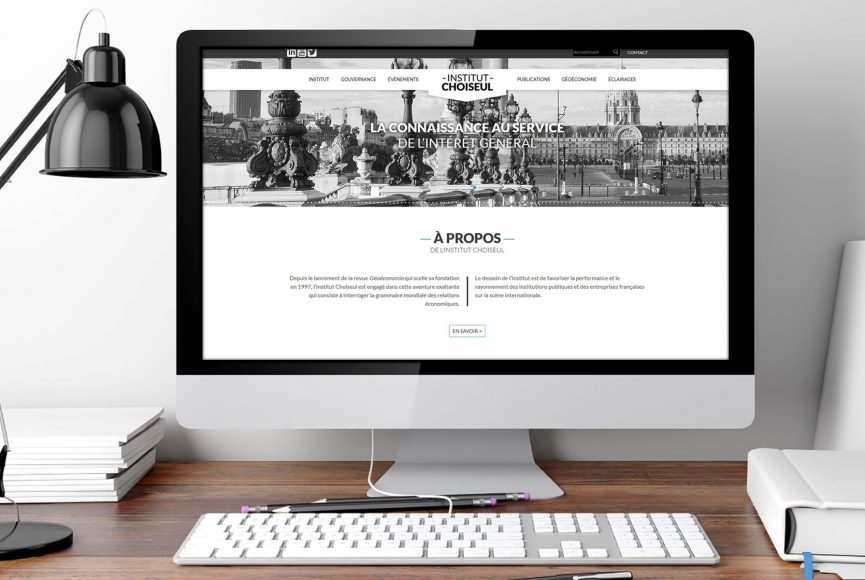 intégration site web institut