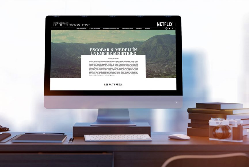 intégration site web narcos