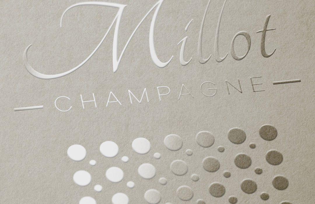 création logo Champagne Millot